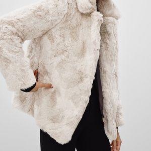 RARE Aritzia Sunday Best Faux Fur Coat